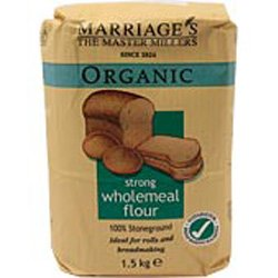 W H Marriage Organic Strong Wholemeal Flour 1.5kg