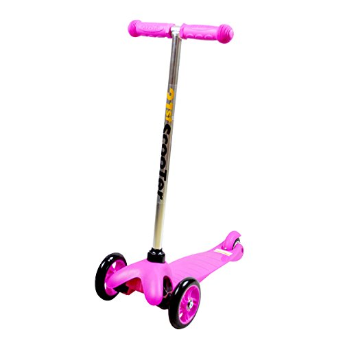 JoyRiders 3-Wheel Junior Kick Scooter, Pink