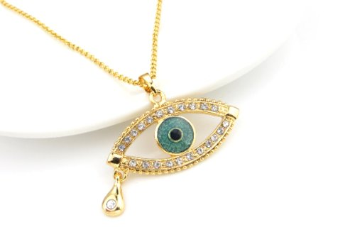 18K Gold Plated Evil Eye Protection Necklace