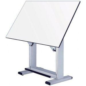 Elite Melamine Drafting Table Frame Finish: White, Size: 37.5