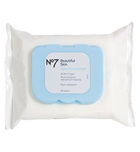No7 Beautiful Skin Quick Thinking Wipes - Pack of 2 (No 7 Quick Thinking Wipes compare prices)