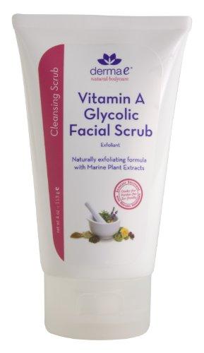 Derma E Natural Bodycare Vitamin A Glycolic Facial Scrub, 4-Ounce