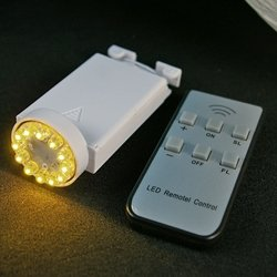Battery Lantern Light & Remote, 12 Leds, Dimmer, Warm White