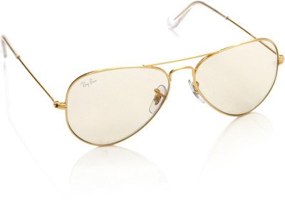 Ray-Ban Aviator Transparent Sunglasses(Rb3025 W3240 55)