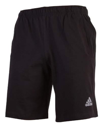 Adidas CR Ess HSJ Mens Shorts ClimaLite Cotton Sports Training Performance Essentials Soccer Football Fitness Track Suit Bottoms Jogging Sweat Pants Trousers Man Black 5XL Tall long sizes
