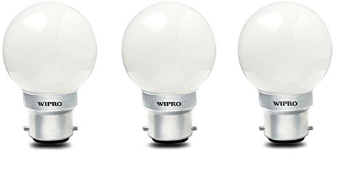 0.5W LED Bulb (White , pack of 3)