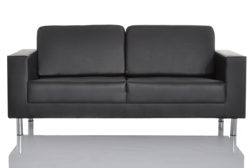 Design Sofa Primary 182x75 cm Schwarz 3-Sitzer Couch