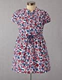 NEW GIRLS MINI BODEN PINK ROSE PRINT COTTON DRESS