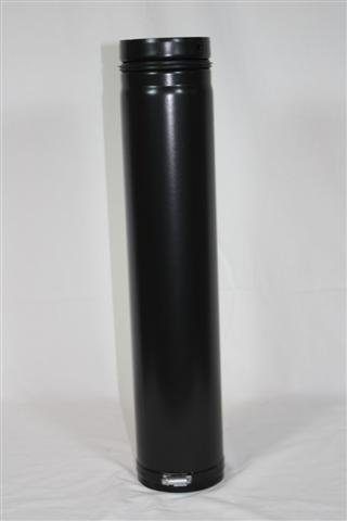 Rauchrohr, Ofenrohr Pellet Fix-Rohr 500mm 100 ø 0,6mm stark