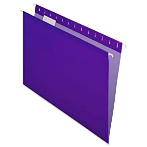 Pendaflex  Hanging Folder, Violet, 1/5 Tab, Letter, 25 Box, 4152 1/5 VIO