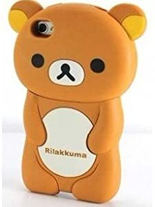 Rilakkuma 8th Year Anniversary Case Cover for Iphone 4 4s Brown