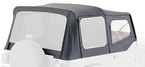 Rampage 99435 Soft Top, Oem Replacement, With Door Skins, 1988-1995 Jeep Wrangler, Black Diamond With Tint Windows