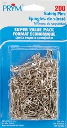 Dritz Safety Pins Size 2 200/Pkg 12005; 3 Items/Order