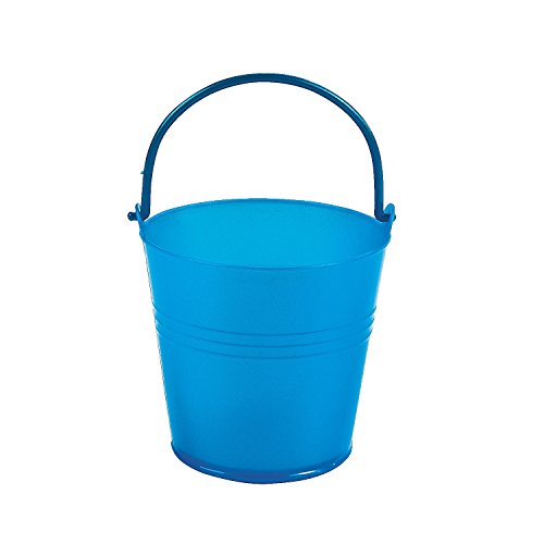 Fun Express Bright Blue Plastic Pails (1 Dozen) - 1
