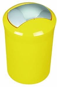 spirella 1014381 sydney swing bin yellow kitchen home
