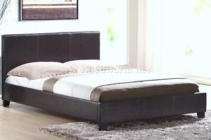 4'6 Haven Brown Double Faux Leather Bed Frame