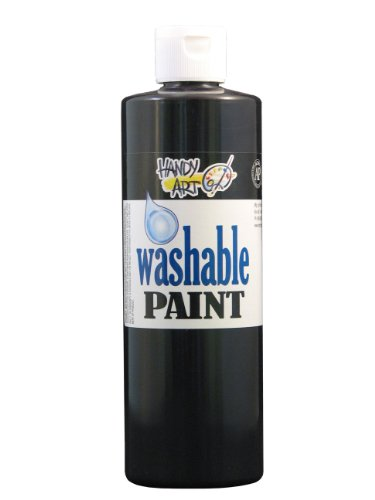 Handy Art by Rock Paint 211-055 Washable Paint 1, Black, 16-Ounce