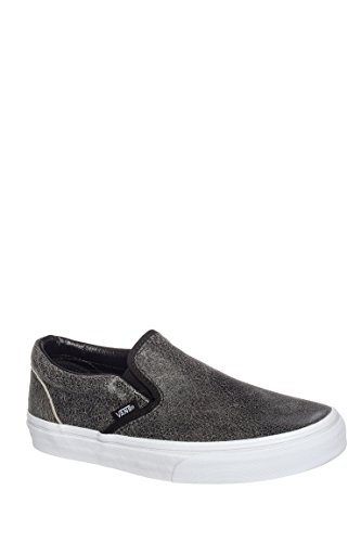Classic Slip-On Cracked Leather Sneaker