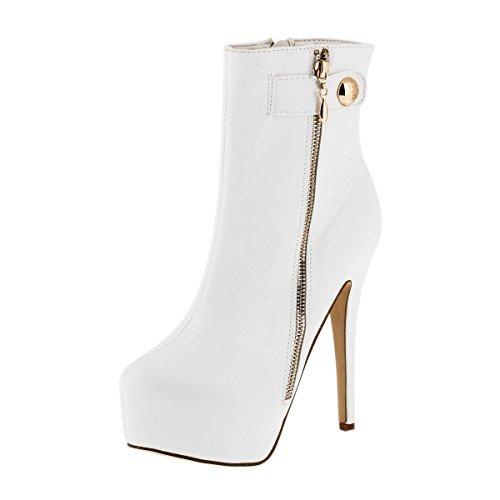 Sergio Todzi © Damenstiefel NEU Sexy Highheels Overknees Stiefeletten Boots Pumps Stiletto (41, Weiß)