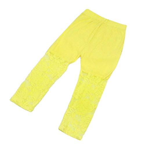 Weixinbuy Kid Baby Girl's Lace Tight Legging Pants