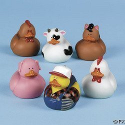 12 Farm Animal Rubber Duckies! by Fun Express