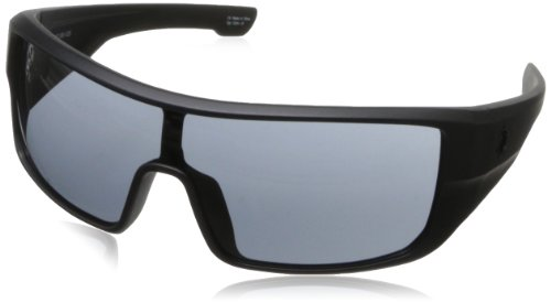Spy Optics Carbine Matte Black - Grey Wrap Sunglasses,Black,131 Mm front-880852