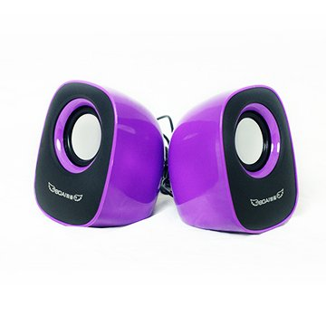 Boai High-Quality Mini Usb Portable Laptop / Computer Pc Speakers Audio Subwoofer For Mp3 Phone Mp4 (Purple)