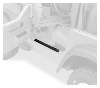 Bestop 51047-01 Highrock 4X4 Black Door Sill Entry Guard Set For 76-95 Cj7 And Wrangler Yj