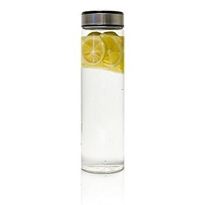 EPiCO BOTTLES Trinkflasche aus Glas für kalte und heiße Getränke - Der perfekte Begleiter für den Alltag und alle Sport- & Outdooraktivitäten. Aus hochwertigem Glas. 100% BPA-frei.