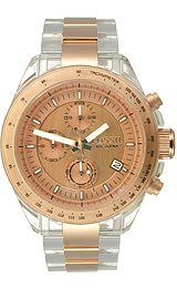 Fossil Decker Chronograph Rose Gold Dial Watch