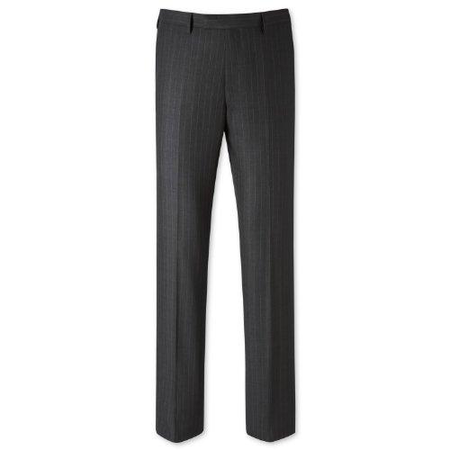 Charles Tyrwhitt Charcoal stripe classic fit suit trouser (36W x 34L)