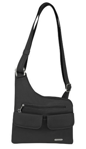 Travelon Luggage Anti-Theft Cross-Body Bag, Black, One Size