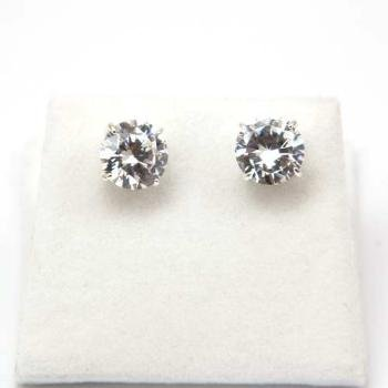 The Olivia Collection Sterling Silver Sparkling Cubic Zirconia Stud Earrings