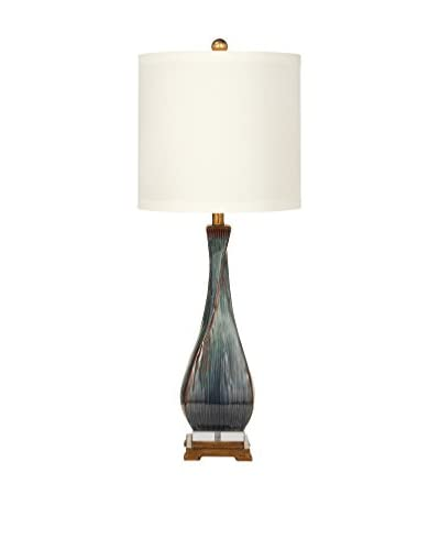Bassett Mirror Co. Sheridan 1-Light Table Lamp, Grey/Brown