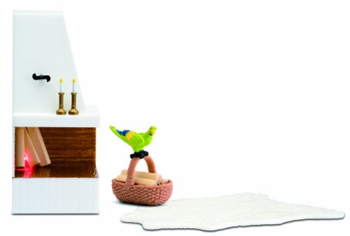Lundby Smaland Dollhouse Corner Fireplace Set (Dollhouse Furniture Fireplace compare prices)