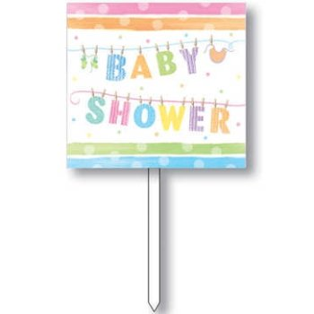 Baby Shower Clothes Yard Sign - Each front-10210