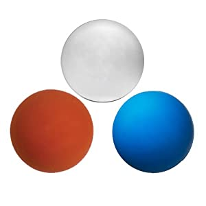 Buy Three Assorted Color Lacrosse Balls - Red White and Blue [Misc.] by Lacrosse Ball Store