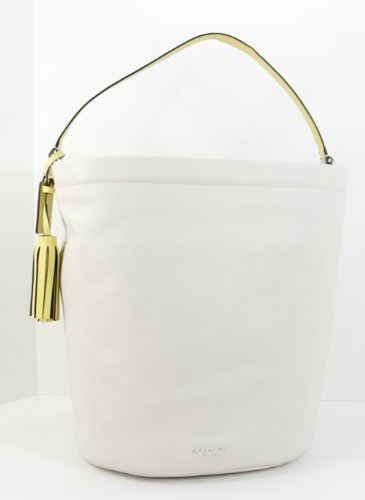 Coach   Coach Archival 2 Tone Leather Bucket Handbag Parchment 22407