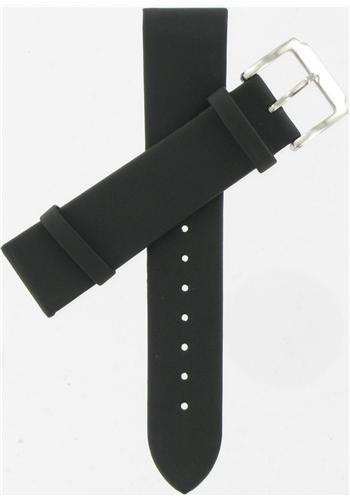Kenneth Cole 20Mm Polyurethane Black Watchband