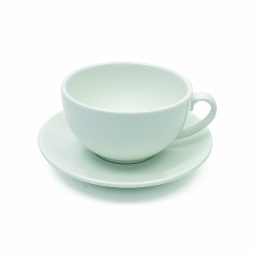 Maxwell and Williams Basics Cappuccino Cup and Saucer, 11-Ounce, White