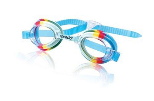 Speedo Kids Tye Dye Swim Goggle (Rainbow/Clear)