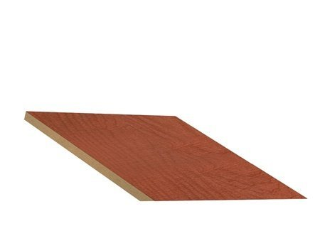 "Sloping Hood In-Line Filler Color: Cherry, Size: 6.63"" H X 15"" W X 20"" D front-534323"