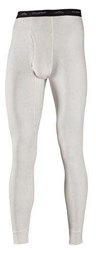 ColdPruf Men's Basic Dual Layer Bottom, Winter White, Large (Mens Thermals White compare prices)