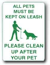 """Metal Sign: 12""""x18"""" Dog / Pet / Waste / Leash, Sign Material=E.G. Reflective on Aluminum"""