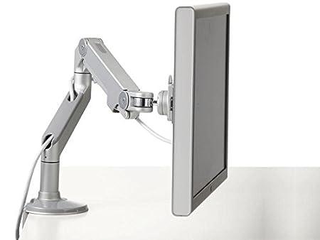 Humanscale M8CS1S M8tavolo fissaggio/tavolo morsetto con braccio orientabile per singolo monitor (Maximum portata 18kg, altezza di regolazione: 292mm, portata del braccio: 558mm, VESA MIS-D) grigio