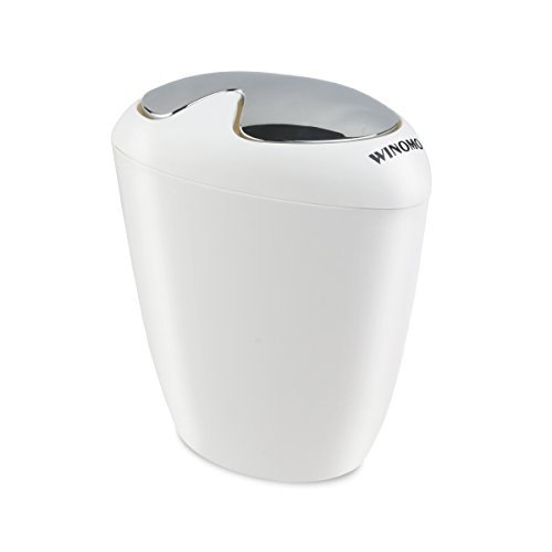 WINOMO Bathroom Trash Can 6.5 Liter 1.75 Gallon Trash with Swing Lip (Swing Garbage Can compare prices)