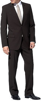 Men`s Suit Lanificio Tessile D'Oro dark brown 44 (34 Regular)