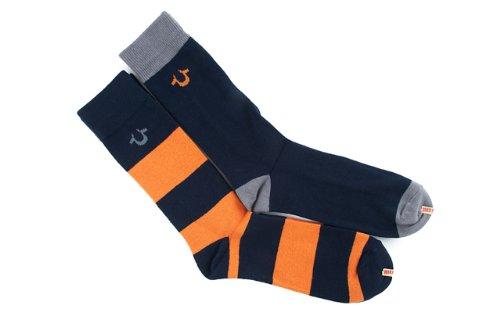 True Religion Men's 2-Pack Multi-Color Casual Cotton Crew Sock