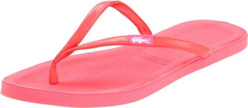 Lacoste Women's Lovina Sandal,Pink/White,5 M US