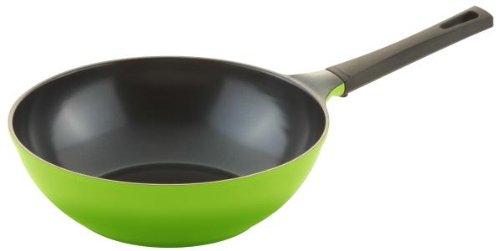 Culinario Wok mit umweltfreunlicher Ecolon Keramik-Beschichtung Ø 30 cm, in grün